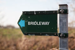 Bridleway sign Stock Photography