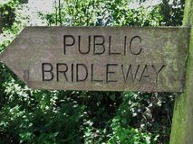 Bridleway sign Royalty Free Stock Photos