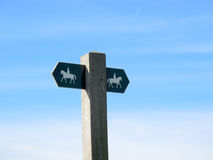 Bridleway sign Royalty Free Stock Photo