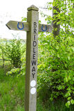 Bridleway Sign Stock Image