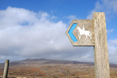 Bridleway sign. Stock Photo