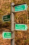 Bridleway signs Royalty Free Stock Photo