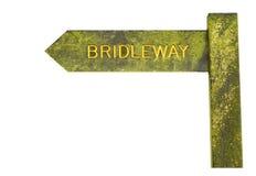 Bridleway undertecknar isolerat Arkivbild