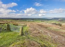 Bridleway on yorkshire moorland Royalty Free Stock Images