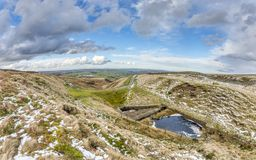 Bridleway on yorkshire moorland Royalty Free Stock Photo