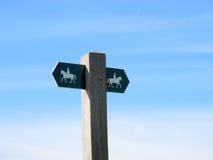 bridleway znak Zdjęcie Royalty Free