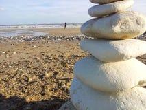 Bridlington海滩,约克夏,英国东部骑马  库存照片
