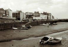 bridlington港口低潮 库存图片