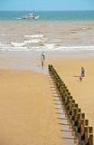 在Bridlington东部约克夏的海滩 库存照片