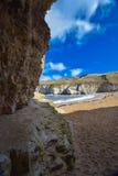 Bridlington coast beach. A small beach near bridlington Yorkshire Stock Image
