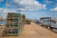 Bridlington-Hafen in England Stockfotografie