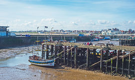Bridlington harbor at low tide Stock Photo