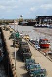 Bridlington Harbour. Bustling Ancient Bridlington Harbour and fishing boats Stock Images