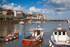 Bridlington harbour in England Stock Photography