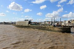 Bridlington Harbour Wall Royalty Free Stock Photography