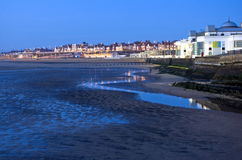 Bridlington South Bay at Dawn Royalty Free Stock Photo