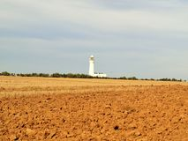 Bridlington till huset för kust- bana för flamboroughhuvud det ljusa Arkivbild