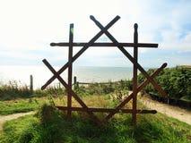 Bridlington to flamborough head  coastal path. Royalty Free Stock Photos