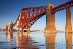 bridżowi Edinburgh naprzód queensferry kolejowi południe Zdjęcie Royalty Free
