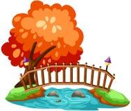 bridżowy drewniany Obrazy Stock