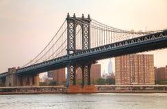 bridżowy miasto Manhattan nowy York Fotografia Stock