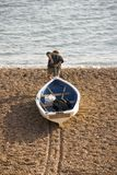 Bridport jurássico do porto da costa de Inglaterra Dorset Foto de Stock Royalty Free