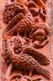 Brids ест виноградины, детали архитектуры Стоковое Изображение RF