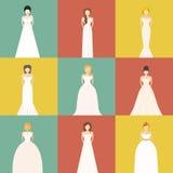 Brids In Wedding Dresses Stock Photo