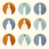 Brids In Wedding Dresses Stock Photos