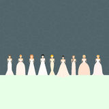 Brids In Wedding Dresses Royalty Free Stock Photo
