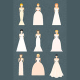 Brids In Wedding Dresses Royalty Free Stock Image