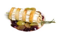 Brie appetizer. Mediterranean restaurant cuisine - Brie appetizer Royalty Free Stock Photo