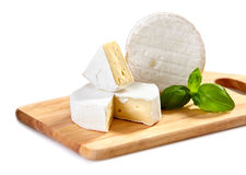 Brie and camembert cheese Royalty Free Stock Photo