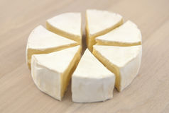 Brie and camembert cheese. High resolution color image Royalty Free Stock Image