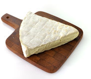 Brie Cheese. Slice Of Franch Brie Cheese On White Background stock photography