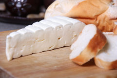 brie cheese and bread Royalty Free Stock Image