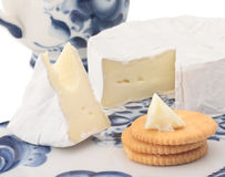 Brie cheese for breakfast Stock Images