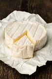 Brie cheese closeup Stock Photos
