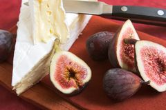 Brie cheese and figs Royalty Free Stock Image