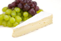 Brie cheese and grapes Stock Photo