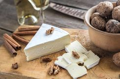 Brie cheese with nuts Stock Image