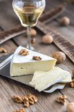 Brie cheese with nuts Royalty Free Stock Photography