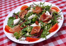 Brie cheese salad with ham Royalty Free Stock Images