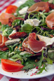 Brie cheese salad with ham Royalty Free Stock Image