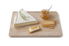 Brie cheese with thyme and toast Royalty Free Stock Image