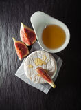 Brie with Figs Stock Photography