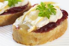 brie kurczaka cranberry melt zdjęcie stock