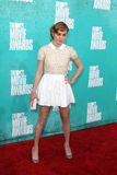 Brie Larson arriving at the 2012 MTV Movie Awards Stock Image
