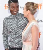 Brie Larson and Mamoudou Athie`Unicorn Store` premiere at 2017 Toronto International Film Festival Royalty Free Stock Images