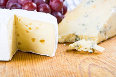 Brie and stilton Royalty Free Stock Photos